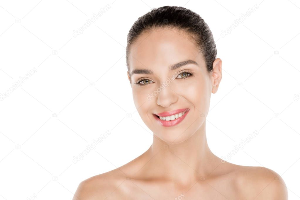 Woman with perfect skin