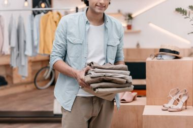 Man working in boutique