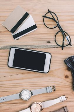 smartphone and credit cards