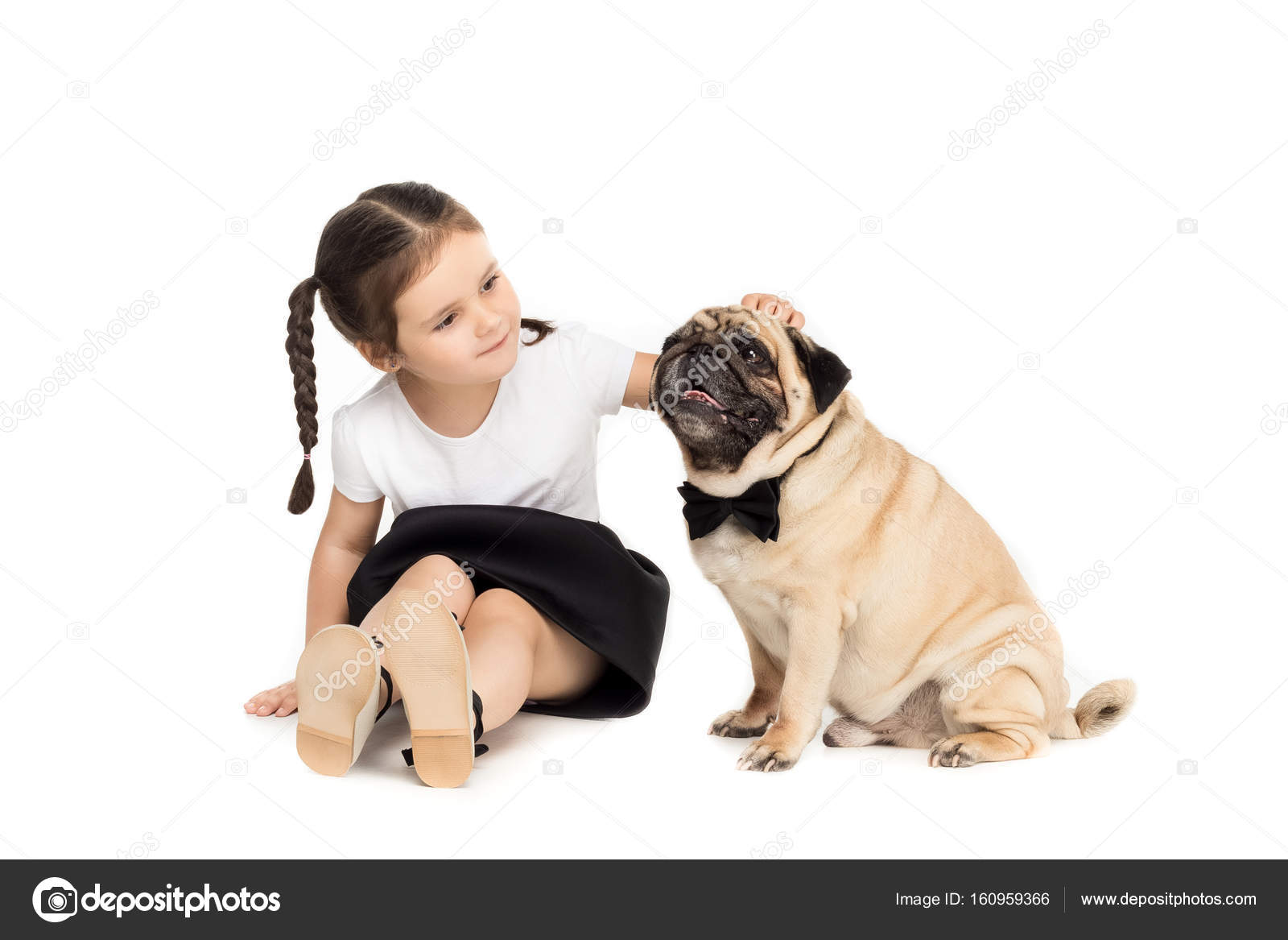 Fantastic Pug Bow Adorable Dog - depositphotos_160959366-stock-photo-girl-with-pug-dog  Pic_422924  .jpg