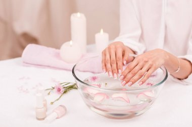Spa treatment for female hands