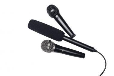Different black microphones