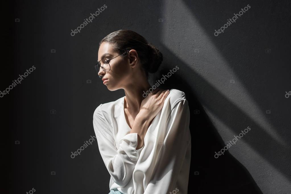 Tender fashionable woman