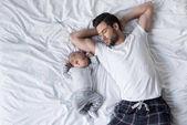 Fotografie otec a dítě
