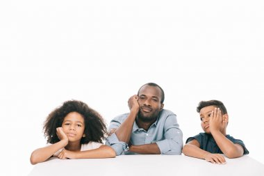 bored african american family