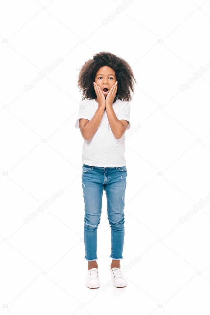 shocked african american girl