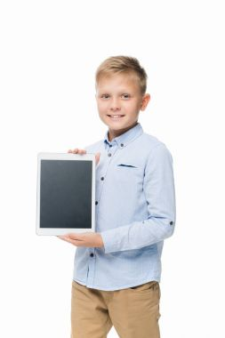 child with digital tablet