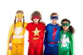 Photo kids in superhero costumes