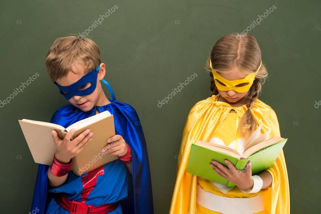 superheroes reading books