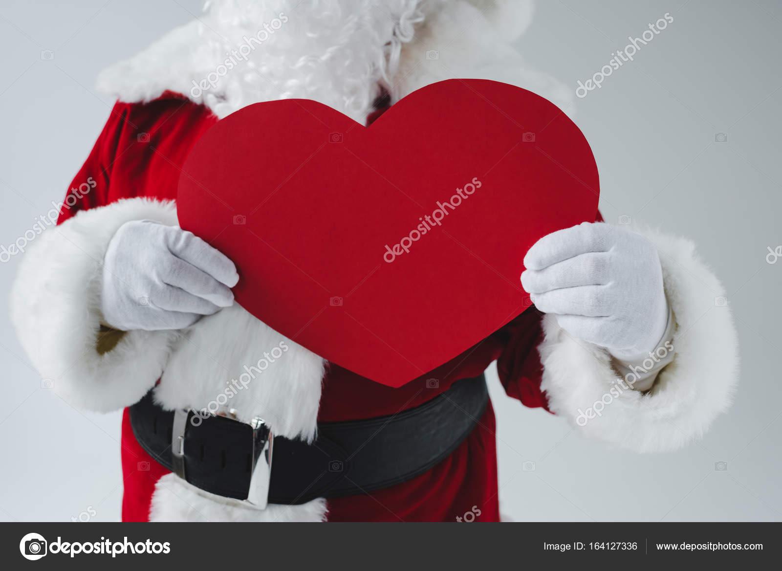Santa Holding Heart Symbol Stock Photo Allaserebrina 164127336