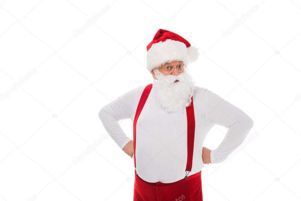santa claus in suspenders