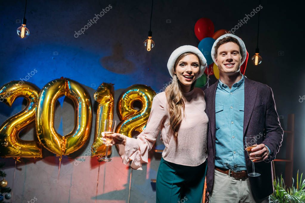 couple at new year party