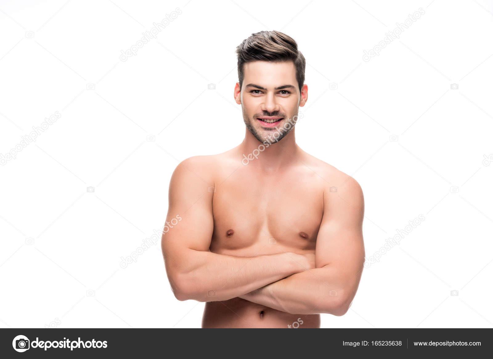 schöner nackter Oberkörper Mann — Stockfoto © AllaSerebrina #165235638