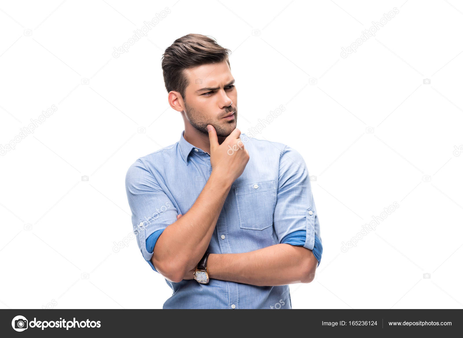 foto de Thoughtful handsome young man Stock Photo © AllaSerebrina #165236124