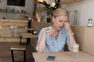 stressed mature woman