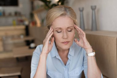 stressed mature woman