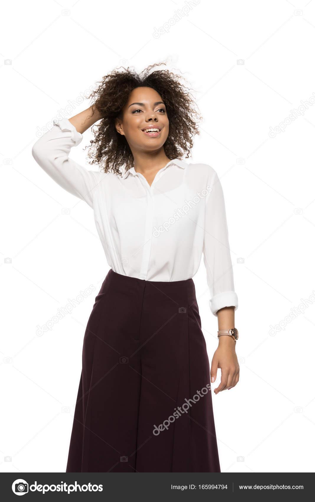 アフリカ系アメリカ人の美人 — ストック写真