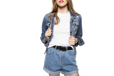 girl in denim clothes