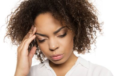 african american woman with headache