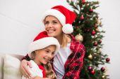 boldog anya és lánya, karácsony