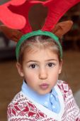 child in antlers