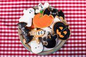 Fotografie různé soubory cookie halloween
