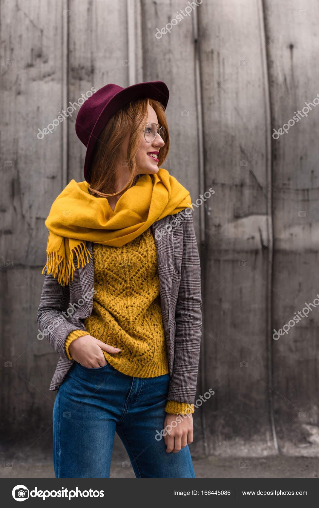 7a415c00fd3 stylish redhead girl — Stock Photo © AllaSerebrina  166445086