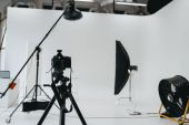 Photo photo studio with lighting equipment