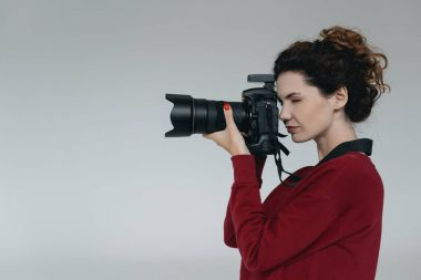 Professional photographer with camera