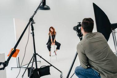 fashion shoot in photo studio