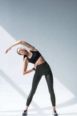 athletic girl exercising
