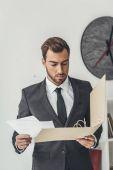 üzletember, a dokumentumok mappa