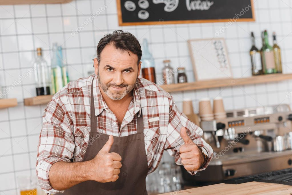 bartender showing thumbs up
