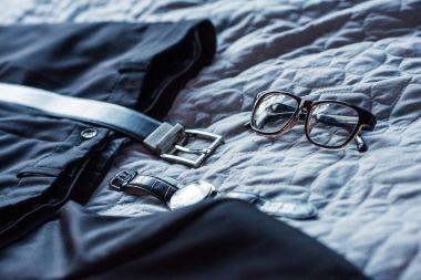 Formal attire on bed