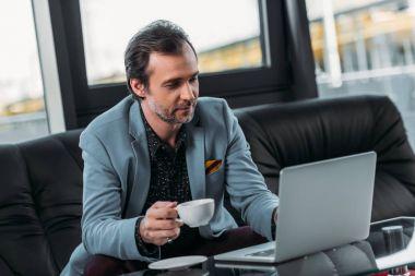 businessman using laptop