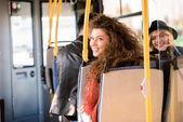 dívky v autobuse