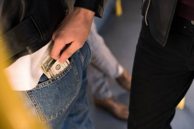 stealing money in public transport