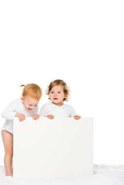 toddlers with empty banner
