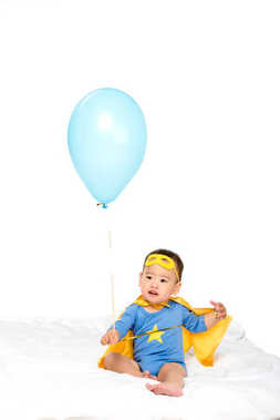 asian toddler with balloon