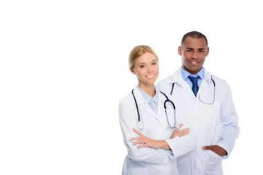 multiethnic doctors with stethoscopes