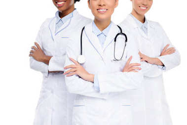 female doctors with crossed arms