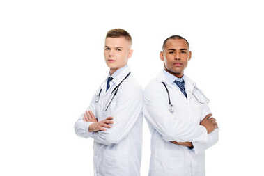 male doctors with stethoscopes