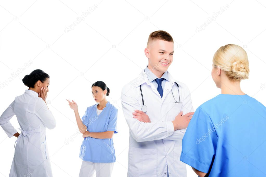surgeons and doctors having conversation