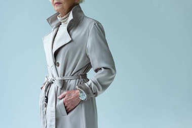 lady in trench coat