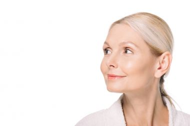 mature woman looking at side