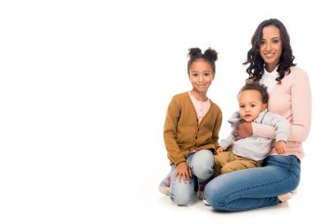 african american mother with kids