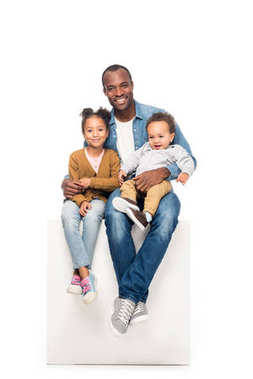 african american father with kids