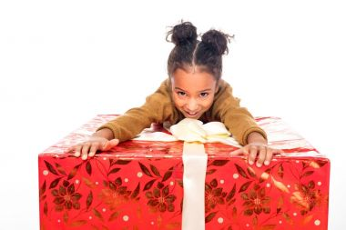 child with gift box
