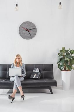 businesswoman working with laptop