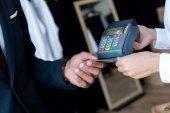 Zahlung per Kreditkarte und terminal